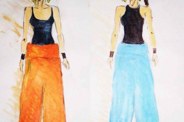desenho calça saruel